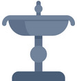 city drinking fountain icon flat isolated vector image vector image