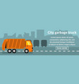 city garbage truck banner horizontal concept vector image vector image