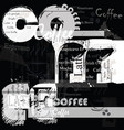coffee background fashion poster vector image vector image