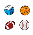 color diferents plays balls icon vector image vector image