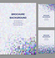 Colored abstract square tile mosaic brochure