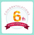 colorful polygonal anniversary logo 3 006 vector image vector image