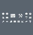 construction repair icons set web mobile 05 vector image vector image