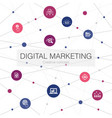 digital marketing trendy web template with simple vector image vector image