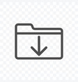 download file data icon isolated on transparent vector image