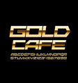 elite banner gold cafe with trendy font vector image vector image