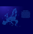 european union map country abstract silhouette vector image vector image
