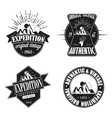Exploration Camping Badges Retro style logotype vector image