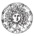 farnese medusa head dish is an onyx patera or vector image vector image