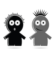 funny grey and black people icon vector image vector image