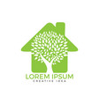 green house logo design vector image vector image