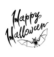 Happy Halloween bat message design background EPS vector image vector image