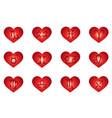 heart zodiac signs horoscope love vector image
