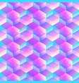 holographic geometric mosaic seamless pattern vector image vector image