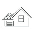 house isolated icon real estate or smart house vector image