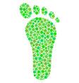 human footprint collage of dots vector image vector image