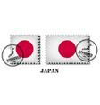 japan or japanese flag pattern postage stamp vector image