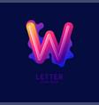 letter w latin alphabet display vector image