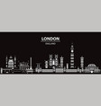 london city gradient 5 vector image vector image