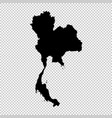 map thailand isolated black vector image