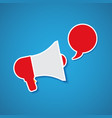 megaphone with bubble speech vector image vector image