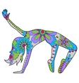 Modern dancer colorful vector image vector image