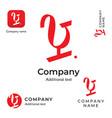 modern typographic wine logo identity brand vector image