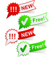 New and free tags vector image vector image