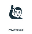 private emoji icon mobile app printing web site vector image