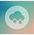 Rain Cloud transparent icon Meteorology Weather vector image vector image