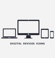 responsive device icons vector image vector image