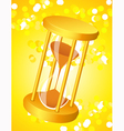 Sandglass on glare light background vector image vector image