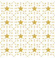 seamless pattern with golden glittering stars vector image vector image