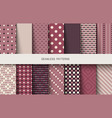 seamless patterns polka dots set vector image vector image