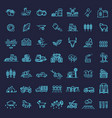 set agriculture and farming line icons vector image vector image