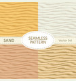 set of seamless sand texture background vector image
