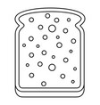 slice of white bread icon outline vector image