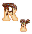 tempting typography font design 3d donut letter r vector image vector image