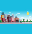 town city street summer vector image vector image