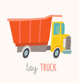 toy truck flash card kids wall art first word vector image vector image