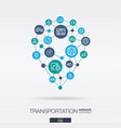 transportation integrated thin line web icons in vector image vector image