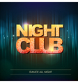 Typography Disco background Night club vector image vector image