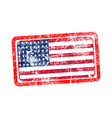 usa flag red grunge rubber stamp vector image