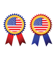 usa flag rosettes vector image vector image