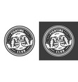 vintage monochrome mma fight club emblem vector image