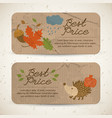 vintage seasonal sale horizontal banners vector image