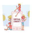 virtual youth communication vector image vector image