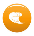 wave surf icon orange vector image