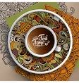 Cup of coffee and Tea time doodles vector image