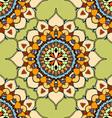 Green Mandala Patterned Background vector image